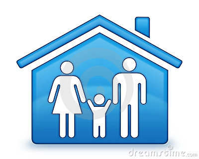 Family House Icon Royalty Free Stock Photography - Image: 10367107