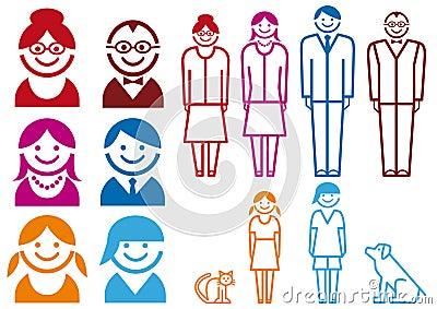 Family icon set,