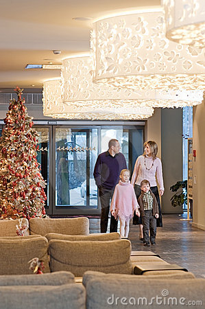 Free Family In The Hotel Royalty Free Stock Photography - 12364787