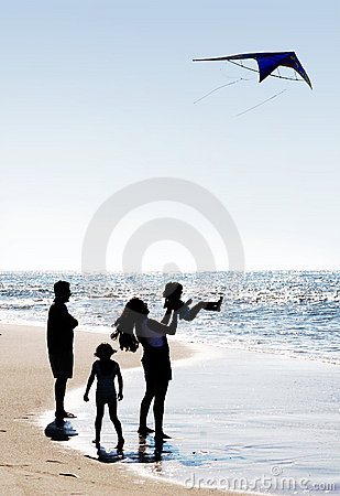 Family and a kite