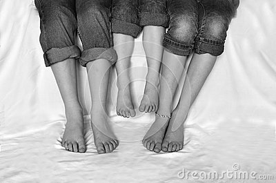 Family Legs Bare Feet