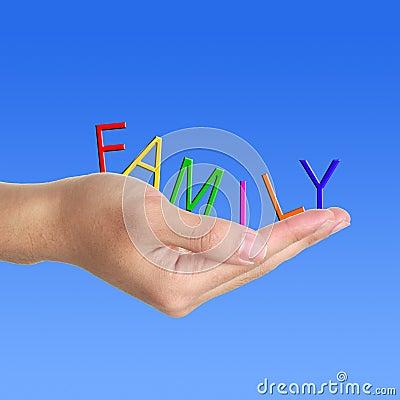 Family letter in hand