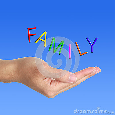 Family letter and hand