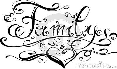 Family lettering