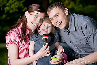 Family Lifestyle Portrait Stock Images - Image: 9886584