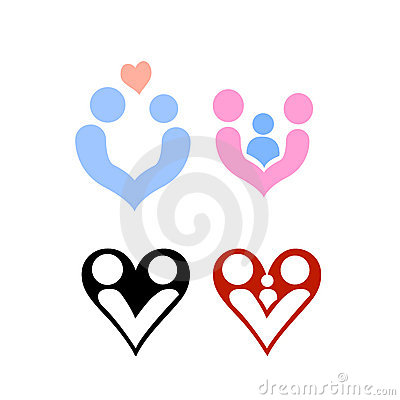 Family and love design logos vector