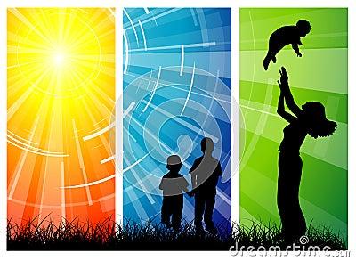 Family love - women and her children