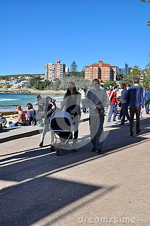 Family at Manly Editorial Photography