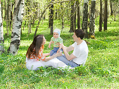 Family at nature