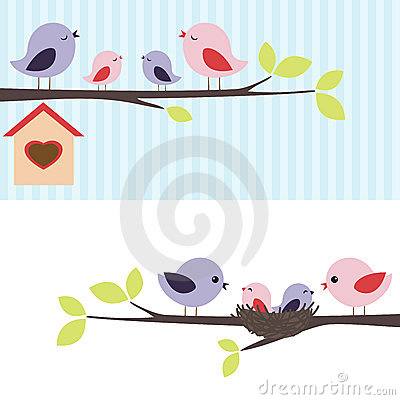 Free Family Of Birds Royalty Free Stock Photography - 23025957