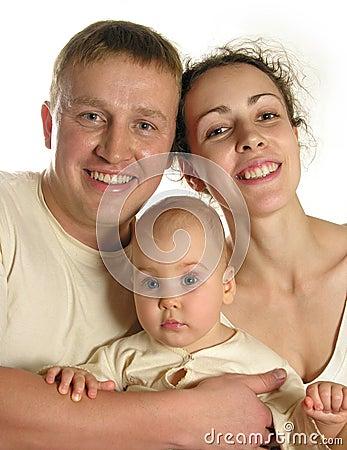 Free Family Of Three 2 Royalty Free Stock Image - 386486