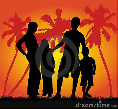 Free Family On Vacations Stock Photo - 3212110