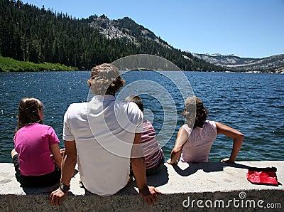 Family outing to lake