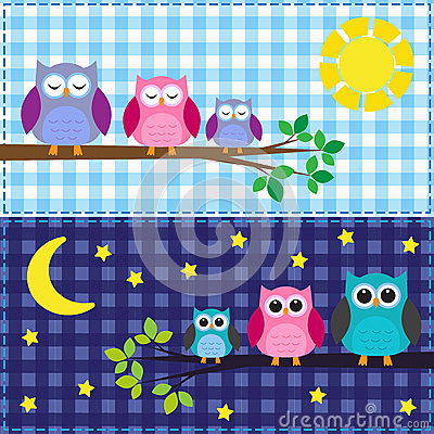 Family of owls