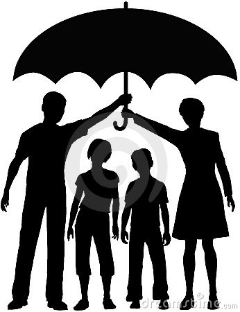 Family parents hold security risk umbrella