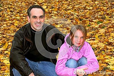 Family park autumn