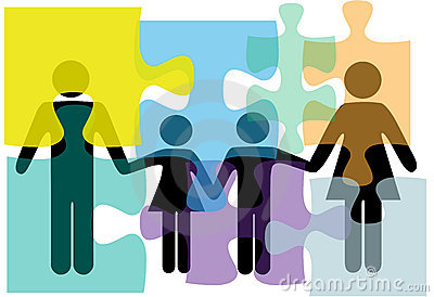 Family people health problem solution puzzle