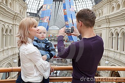 Family photographs on digital camera