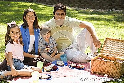 Family picnicing.