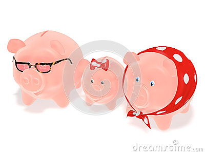 Family piggy banks