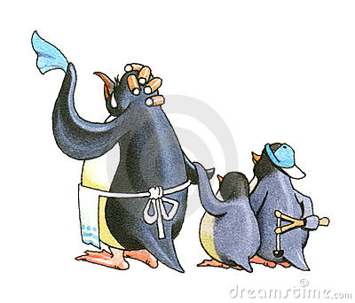 Family pinguins