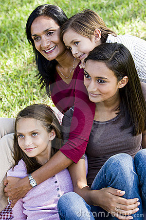 Free Family Portrait, Mother With Three Children Royalty Free Stock Image - 12719486