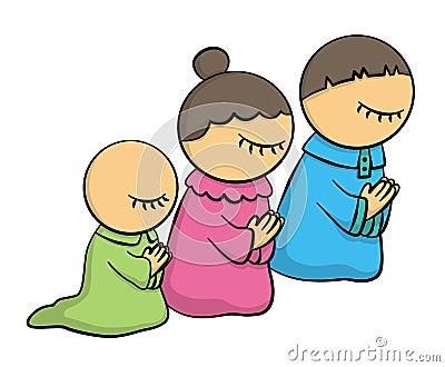 Family at pray