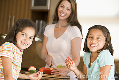 Family Preparing Meal Together