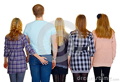 Family - rear view