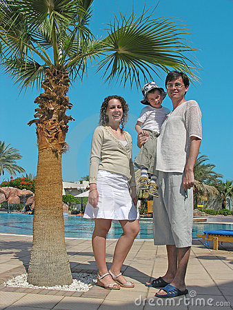 Family on the resort