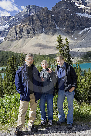 Family in the rockies
