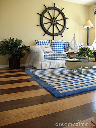 Family Room with Wood Floors