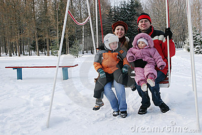 Family on seesaw