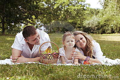 Family sharing moments together on the picnic