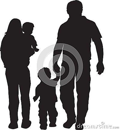 Free Family Silhouette Stock Photo - 10525070