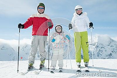 Family ski team