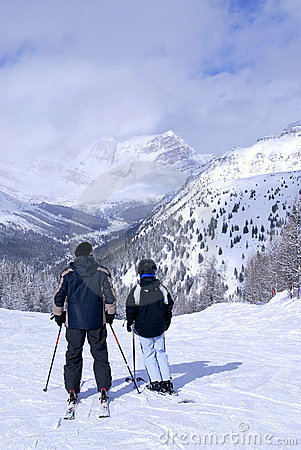 Free Family Skiing Royalty Free Stock Image - 2908646