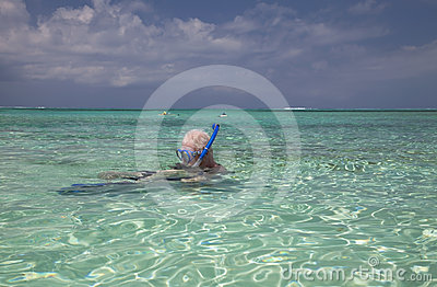 Family snorkeling, Turks & Caicos