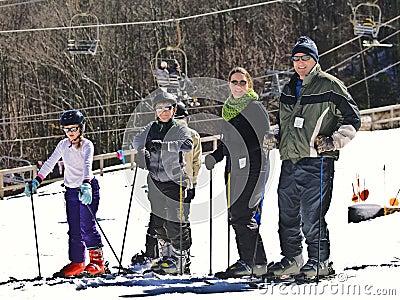 Family Snow Skiers