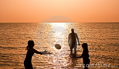 Family Sports at the Beach