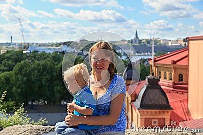 Family in Stockholm, Sweden