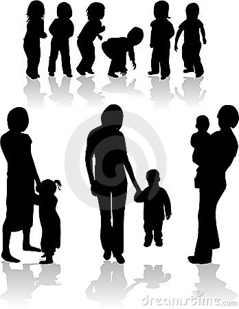 Family Subject Silhouettes