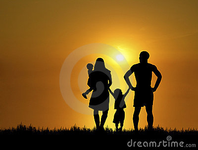 Family at Sunset 4