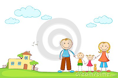 Family in Sweet Home