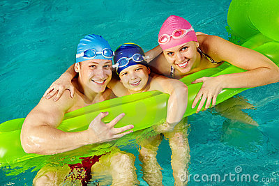 Family of swimmers