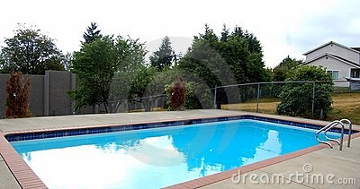 A family swimming pool