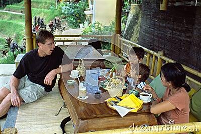 Family Tea Time in Bali Indonesia