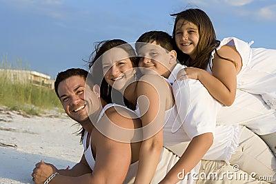 Family time on a beach
