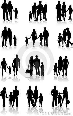 Free Family Togetherness Vector Stock Images - 12981684