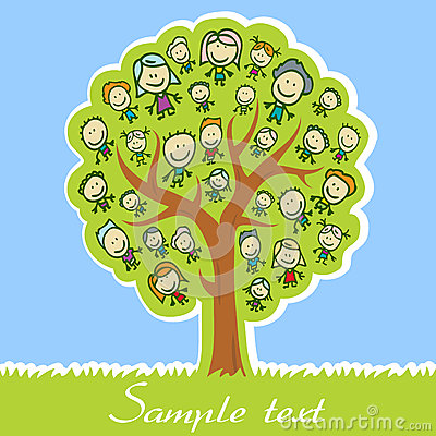 Free Family Tree Royalty Free Stock Images - 27432939